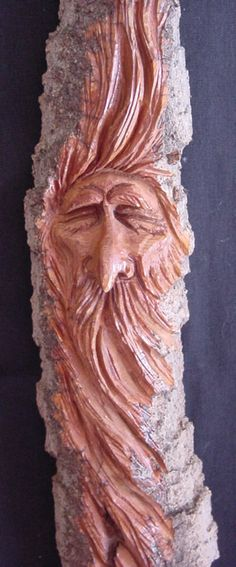 Wood Spirit Wizard Carving