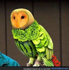 Owl funny food style art design pictures food photos images people fun Funny Food Art: Play With Your Food (40 Photos)