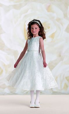 2015 New Ball Pageant Gowns for Girls Sleeveless Zipper Tea Length  Exquisite Lace Sash with Crystal Plus Size Flower Girls Dress c5db76a16166