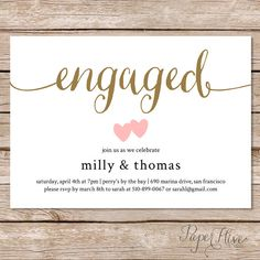 Engagement party invitations / Engagement Party by paperhive