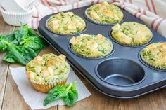 In this quick video tutorial, Nutrisystem& Kristen Flynn demonstrates how to prepare delicious and simple Veggie Omelet Muffins. Low Carb Recipes, Diet Recipes, Healthy Recipes, Lean Recipes, Healthy Meals, Spinach And Feta Muffins, Egg Recipes For Breakfast, Breakfast Dishes, Breakfast Time