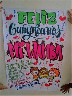 pancarta de cumpleaños Cumpleaños Diy, Birthday Gifts, Happy Birthday, Kawaii, Ideas Para, Anniversary Gifts, Diy And Crafts, Pokemon, Birthdays