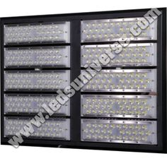 Flood LED light 500W Our Flood Light Legion has 50W modules installed, each module has 30 small LED Chips which helps creating a lighter structure and an energy saving product.  Thanks to our Premium Precise Optical Lenses we can achieve incredibly high light efficiency as it reaches 150lm/W. http://www.ledsuniverse.com/flood-lights/legion/