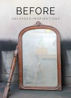 Repurposed Dresser Mirror Before