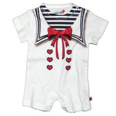 """This was listed as a """"nautical girl short sleeved outfit"""" all I can see is the Stay Puft Marshmallow Man! Lol"""