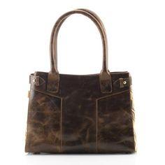 Leather City Bag - Geo Tile