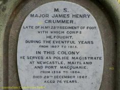 Australian Cemeteries Index - Inscription 5499519 - James Henry Crummer Port Macquarie, Military Officer, Newcastle, Colonial, Postcards, Greeting Card