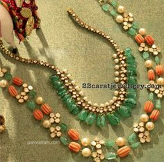 Red Coral and Emerald Drops Sets