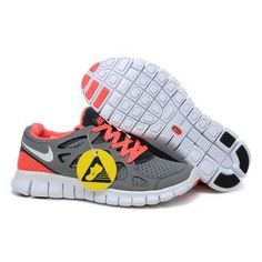 quality design 960c7 540d3 Nike Free Run 2 Grey White Cool Grey Bright Mango Womens Shoes