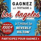 Entrez et courez la chance de gagner un voyage à Los Angeles + 1000 $ Flux de trésorerie avec Linen Chest.