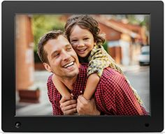 Digital Picture Frame 15 in HD Display Digital Photo Frame with Motion Sensor USB//SD Card Playback Calendar Remote Control,White