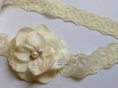 Ivory Hydrangea Flower Baby Headband...Ivory Lace by LChicBoutique, $10.95
