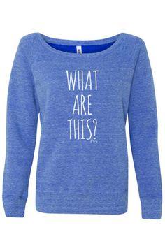 What Are This? Girls Sweatshirt (Blue Tri-Blend)
