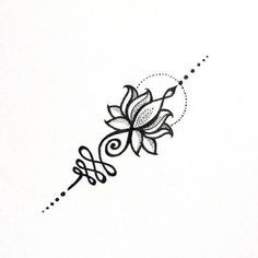"107 Likes, 1 Comments - • TATTOO ART & AQUARELAS • (@alinecoill) on Instagram: ""U N A L O M E L O T U S #unalome #unalometattoo #lotus"""