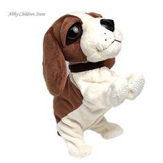 Perros Mascotas Robot Interactivo de la Corteza Del Perro de Control de Sonido electrónico Pararse Caminar Electrónica Regalo Perro Juguetes Para Bebé de Juguete de Regalo de Navidad