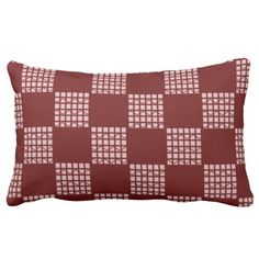 Licorice Red Checkerboard Pattern Throw Pillows