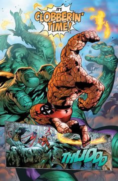 The Thing vs Fin Fang Foom (Fantastic Four #1, 2014)