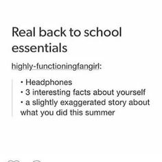 When I was in high school this was literally my checklist. I'm so beyond thrilled that I'm done with that shit!
