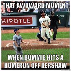 Madbum hits a homer off Dodgers' Kersham - May 21, 2015!!!!!!