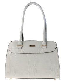 Pierre Cardin Black White Patent Leather Handbags
