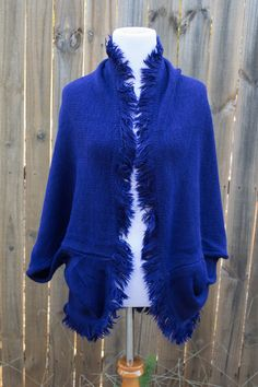 Cozy Shrug with Fringe. 5 Colors Available.