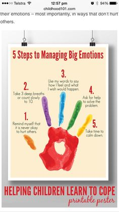 Steps to Managing Big Emotions