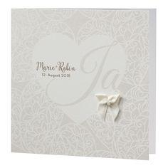 """Elegante Hochzeitseinladung """"Perle"""" im edlen Design online bestellen!"""