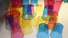 Build with color cups at the light table