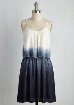 Tier Comes the Sun Dress. Suns out, funs out when youre sporting this dip-dyed dress! #blue #modcloth