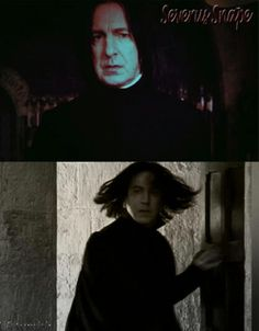 Severus Snape and the flying hair Young Severus Snape, Severus Snape Always, Snape And Hermione, Professor Severus Snape, Harry Potter Severus Snape, Severus Rogue, Alan Rickman Severus Snape, Harry Potter Characters, Harry Potter World