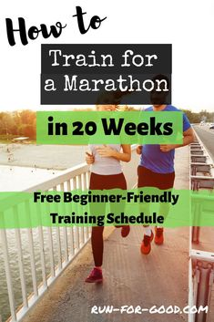 This 20-week beginner marathon training schedule is perfect for a beginner runner or a first-time marathoner whose goal is to finish the 26.2-mile race.  #marathontraining  #marathonschedule  #marathonrunning