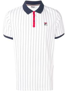 1d4ee975 FILA FILA BB1 STRIPED POLO SHIRT - WHITE. #fila #cloth