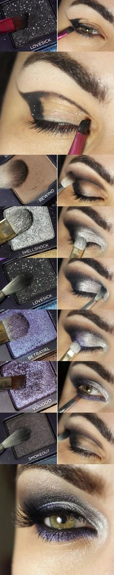 Pretty makeup tutorials for day & night! - #silvershadow #purpleshadow #eyemakeup #eyes