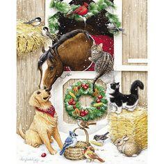 Barnyard Christmas 500 Piece Jigsaw Puzzle
