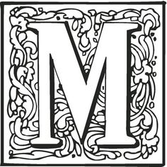 Letter M with Ornament coloring page from English Alphabet with Ornaments category. Select from 26307 printable crafts of cartoons, nature, animals, Bible and many more.