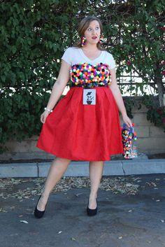 DIY Gumball Machine Costume | 31 Days of DIY | #myfairolinda