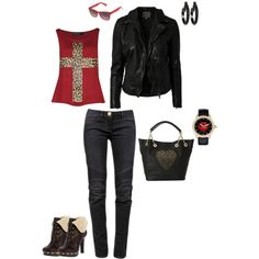 """Rock & Red"" by misssglamour on Polyvore"