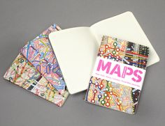 """pocket sized lightweight journals with design of """"Maps"""" to use them on next journey, or simply  to jot notes on the go 