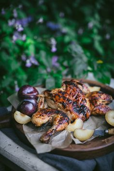 Barbecue Plum Spatchcock Chicken + A How To Video - Adventures in Cooking Barbecue Recipes, Meat Recipes, Chicken Recipes, Dinner Recipes, Healthy Recipes, Delicious Recipes, Spatchcock Chicken, Plum Sauce, Food Photography Tips