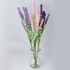 12 chefes Artificial Lavender flor com folhas buquê Home Wedding Garden Decor HF303 em Flores & coroas decorativas de Casa & jardim no AliExpress.com | Alibaba Group