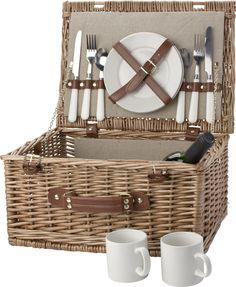 Relatiegeschenken 2-persoons picknickmand Willow bedrukken #picknick #tips #zomer