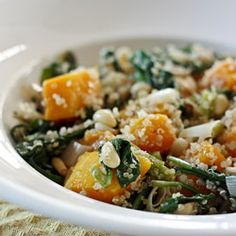 Butternut Squash with Baby Spinach #HealthyAperture