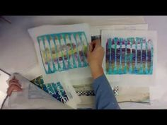 Negative/Positive Gelli Plating Technique w/iStencils -- Patti Tolley Pa...