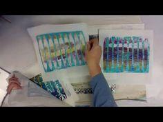 Negative/Positive Gelli Plating Technique w/iStencils -- Patti Tolley Pa...