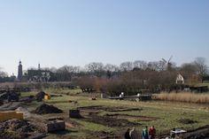 Buren met op de voorgrond de opgraving aan de Blatumsedijk. Ligt hier misschien Villa Buria? Bron: Arcadis