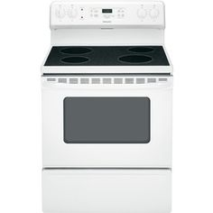 Hotpoint Smooth Surface Freestanding Ft Self Cleaning Electric Range White Common Actual
