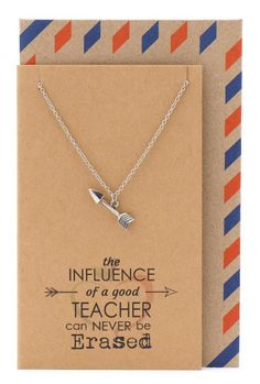 Our Katniss Teachers Gifts, Arrow Necklace and Inspirational Quote Card reminds every teacher the important role he or she play in their student's life. Lovely gifts for teachers to show how much you appreciate them. Best Teacher Gifts, Teacher Appreciation Gifts, Music Note Necklace, Arrow Necklace, Thank You Greetings, Thank You Cards, Gift For Music Lover, Printable Cards, Printables