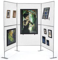 3 Panel Art Show Display | Lightweight & Easy Assembly Craft Booth Displays, Display Ideas, Craft Booths, Booth Ideas, Art Display Panels, Display Wall, Purse Display, Exhibition Display, Museum Exhibition