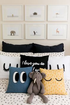 Single Women And Their Spaces: Widow, Mother and Founder of The Bungalow, Christine Sanders - The Fold Trendy Bedroom, Kids Bedroom, Bedroom Decor, Bedroom Ideas, Modern Bedroom, Bedroom Wall, Industrial Bedroom, Bedroom Color Schemes, Modern Pillows