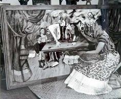 "Wounded Table, Mesa Herida, Frida Kahlo, C0354 - Frida painting ""Wounded Table"" - Photo by Bernard Silberstein"
